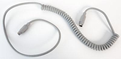 Apple ADB coiled keyboard cable 590-0361-A 100 cm grey - vintage retro Macintosh SE Classic Performa IIgs