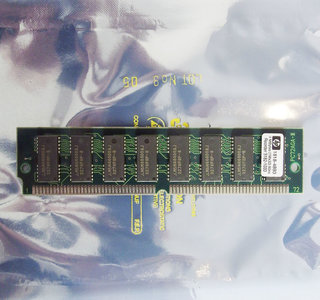 HP 1818-4893 4 MB 4MB 80 ns 80ns 72-pin SIMM non-parity FPM RAM memory module - vintage retro 90s