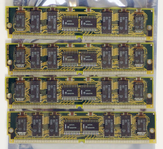 Set 4x Kingston KTN-1100/SX ? MB ?MB ? MB ?MB kit 80 ns 80ns 80-pin tin contacts SIMM parity RAM memory modules - vintage retro 90s