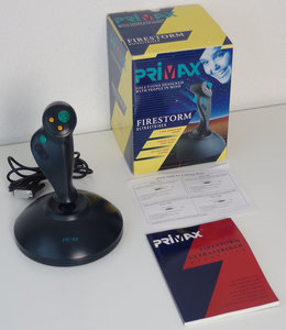 Primax Firestorm Ultrastriker PC DA-15 joystick controller CIB - vintage retro 90s ms-dos dos game gaming