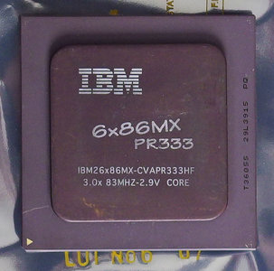 IBM 6x86MX PR333 CVAPR333HF 250 MHz super socket 7 processor - CPU 250MHz IBM26x86MX-CVAPR333HF