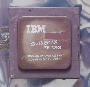 IBM 6x86MX PR233 CVAPR233HF 200 MHz socket 7 processor - CPU 200MHz IBM26x86MX-CVAPR233HF