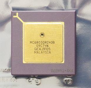 Motorola 68030 MC68030RC40B 40 MHz PGA128 processor - 40MHz CPU Apple Macintosh Amiga vintage retro 90s