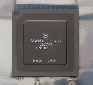 motorola 68030. motorola 68030 mc68ec030rp40b 40 mhz pga128 processor - 40mhz cpu apple macintosh amiga vintage retro 90s r