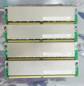 Set 4x Panasonic EUXSX08AK07A 5703595N ? MB kit 70 ns 70ns 72-pin gold contacts SIMM non-parity RAM memory modules - vintage retro 90s