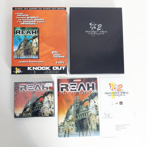 PC CD-ROM game Reah - Face The Unknown Project Two Interactive complete - CIB big box adventure Windows 95 98 9x Pentium vintage retro 90s