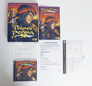 PC CD-ROM game Prince Of Persia 3D Red Orb Entertainment complete - CIB big box action Windows 95 98 9x Pentium II