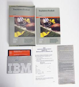 IBM PCjr 5.25'' floppy disk game Touchdown Football Imagic complete in box - CIB sports DOS vintage retro 80s