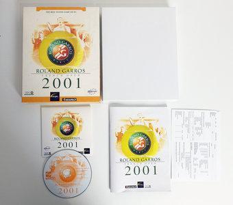 PC CD-ROM game Roland Garros 2001 Cryo complete - CIB big box tennis Windows 95 98 9x 2000 Pentium III