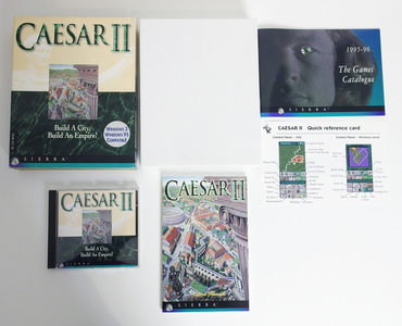 PC CD-ROM game Caesar II Sierra On-Line complete - CIB big box strategy DOS 486 vintage retro 90s