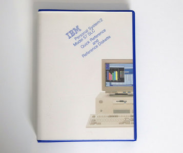 IBM Personal System/2 model 57 SLC Quick Reference and Reference Diskette - PS/2 manual system disk vintage retro 90s