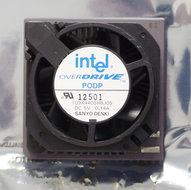 Intel-Pentium-Overdrive-PODP5V83-83-MHz-socket-2-3-486-upgrade-processor-w--cooler-486DX4-i486-83MHz-CPU-fan-vintage-retro-90s