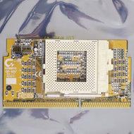Gigabyte-GA-6R7-rev.-1.7-slot-1-to-socket-370-CPU-converter-S370-adapter-slotket-slocket-processor-vintage-retro-90s-Pentium-III-PIII-P3