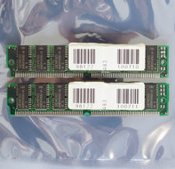 Set-2x-Siemens-HYB5117405BJ-60-32-MB-32MB-64-MB-64MB-kit-60-ns-60ns-72-pin-SIMM-non-parity-EDO-RAM-memory-modules-vintage-retro-90s