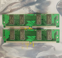 Set-2x-Hyundai-HYM532214AE-60I-8-MB-8MB-16-MB-16MB-kit-60-ns-60ns-72-pin-SIMM-non-parity-EDO-RAM-memory-modules-vintage-retro-90s