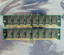 Set-2x-NPNX-AAA4M304J-07-8-MB-8MB-16-MB-16MB-kit-70-ns-70ns-72-pin-gold-contacts-SIMM-non-parity-RAM-memory-modules-vintage-retro-90s