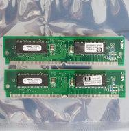 Set-2x-HP-1818-6837-NEC-MC-421000F32BA-60-4-MB-4MB-8-MB-8MB-kit-60-ns-60ns-72-pin-SIMM-non-parity-EDO-RAM-memory-modules-vintage-retro-90s