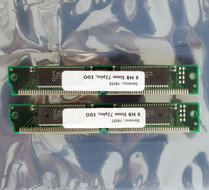 Set-2x-Fujitsu-8118165A-60-8-MB-8MB-16-MB-16MB-kit-60-ns-60ns-72-pin-SIMM-non-parity-EDO-RAM-memory-modules-vintage-retro-90s