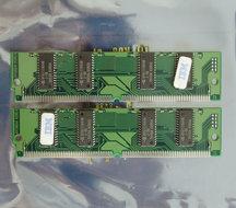 Set-2x-IBM-FRU-92G7321-Hyundai-HYM532214AE-60-8-MB-8MB-16-MB-16MB-kit-60-ns-60ns-72-pin-SIMM-non-parity-EDO-RAM-memory-modules-vintage-retro-90s
