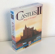 New-&-sealed-PC-CD-ROM-game-Castles-II-Siege-&-Conquest-Interplay-big-box-strategy-DOS-vintage-retro-90s