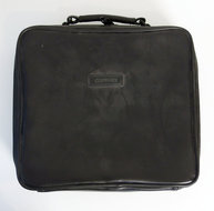 COMPAQ-black-leather-laptop-notebook-bag-vintage-retro-90s